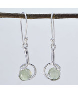jaipur 925 Sterling Silver resplendent Natural Green Earring gift UK - $11.27