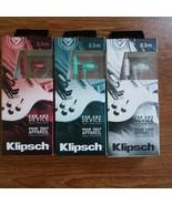 Klipsch S3m Red  White or Jade n-Ear Only Headphones  In-line Mic & Case... - $23.99