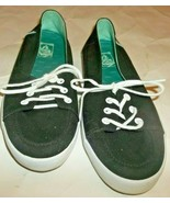 Vans Off The Wall Black Boat Shoes  Sz. 7 Lace Up Womens - $12.86