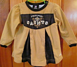 New Orleans Saints Cheerleader Dress Toddler Girls Size 18 Months NFL w ... - $12.99