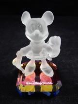 "Walt Disney World Mickey Mouse Brave Little Tailor 4"" Crystal Figure RARE - $94.99"