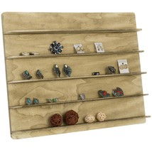 MyGift Torched Wood 5 Tier Retail Jewelry Showcase Rack, Countertop Small - $55.71