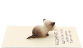 Hagen-Renaker Miniature Cat Figurine Tiny Siamese Kitten Lying Seal Point image 4