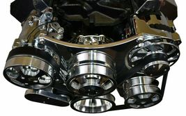 Small Block Chevy Serpentine Front Drive System Complete Kit Chrome image 4