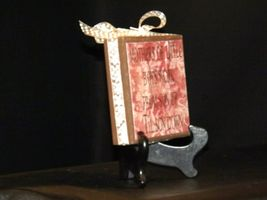 Handmade Plaque with Stand AA19-1689 Vintage image 4