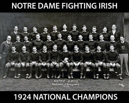 1924 Notre Dame Team 8X10 Photo Fighting Irish Picture Ncaa Football Champs - $3.95