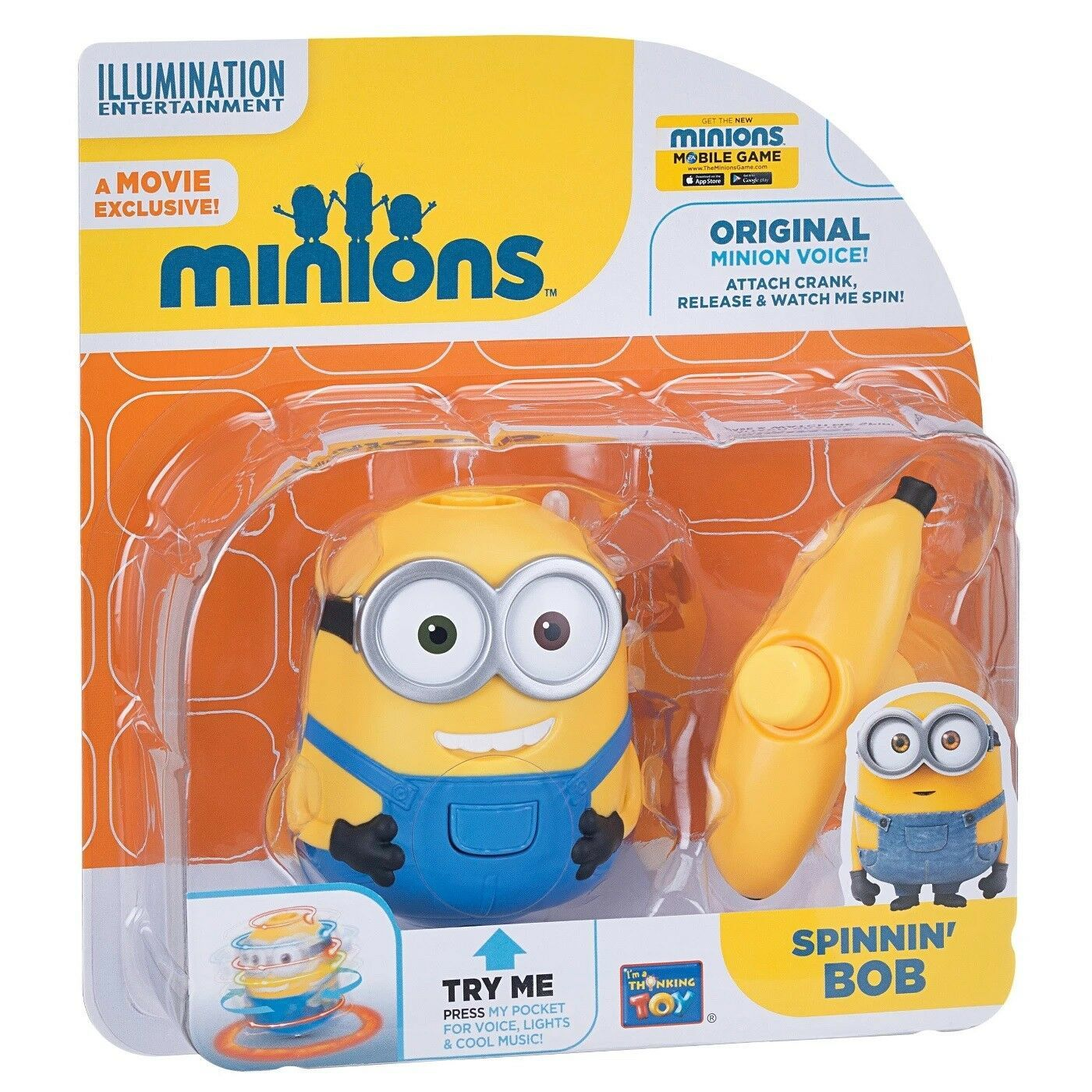Primary image for Disney Despicable Me Minion Spinning Bob with Banana launcher sounds + lights