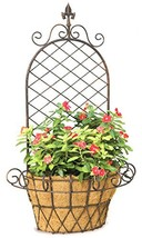 """Deer Park WB134 Finial """"X"""" Wall Basket with Cocoa Liner - $82.77"""