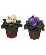 African Violet w/Vase Silk Plant (Set of 2) - $43.31