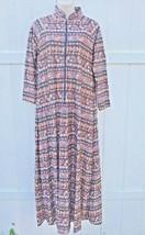 Vintage Robe Small Full Length JC Penney Loungewear Long Sleeve Pocket Z... - $19.00
