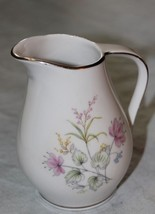 Winterling-Bavaria Creamer  pink yellow blue green on white w/ silver EX... - $9.90