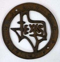 State of Texas Wall Plaque Cast Iron Western Home Metal Decor Decoration... - $10.84