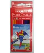 Faber-Castell  24 Tri-Colour Pencils  Triangular Grip  Color Pencils - $11.01