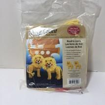 Noah's Lions Plastic Canvas Kit Quick Count 3D Uniek - $8.79