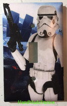 Star Wars White Soldier Light Switch Power Outlet Duplex Cover Plate Home decor image 3