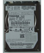 100GB 2.5in SATA Drive Toshiba MK1034GSX HDD2D37 Free USA Ship Our Drive... - $29.95