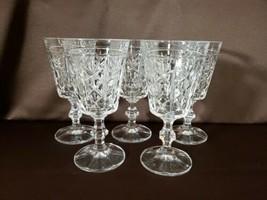 Set Of 5 Lead Crystal Stemmed Water Gobblet Glasses - $29.99
