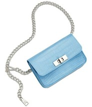 Steve Madden Croc-Embossed Chain Belt Bag (Blue, S/M) - $35.64