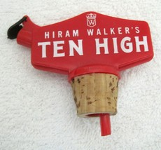 Vintage Barware Bar Bottle Decanter Stopper & Pourer Hiram Walker  - $12.38