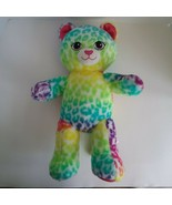 2015 Build A Bear Cat Cheetah Leopard Rainbow Plush Stuffed Animal Doll ... - $4.89