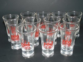 """RED STAG by Jim Beam  VINTAGE 4"""" SHOT GLASS (LOT of 12 PCS) - BRAND NEW - $59.38"""
