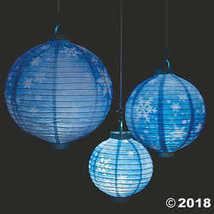 Snowflake Light-Up Hanging Paper Lanterns - $18.74