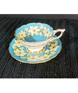 Royal Stafford Blue Dogwood Flowers Gold Footed England Bone Tea Cup and... - $110.25