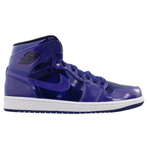 332550-420 Men's Nike Air Jordan 1 Retro High Patent Leather Deep Blue 8... - $149.95