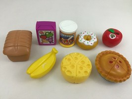Fisher Price Smart Shopper Basket Fun Shopping Food Toy 9pc Lot Cheese Bread Pie - $29.35