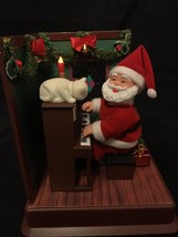 Vintage Maisto Play it Again Santa Animated Illuminated Batt Oper Music ... - $31.99