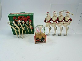 Lot Rockettes Showgirls Christmas Ornaments Snow Globe Kurt Adler 32158 - $49.49