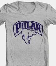Polar Beer T-shirt retro vintage style distressed print grey graphic tee image 1