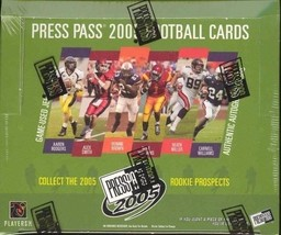 2005 Press Pass Football Hobby Box - Factory Sealed! Aaron Rodgers??? - $150.00