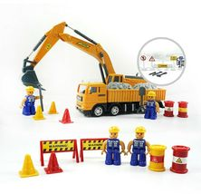 Bandi Toys Construction Heavy Equipment Vehicle Car Crane Dump Truck Toy Set image 6