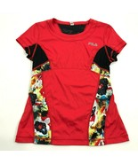 FILA Running Shirt Women's Size M Medium Red Dry Fit Tee 3M Safety Refle... - $14.27