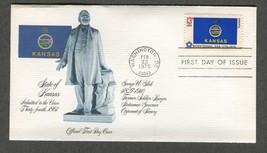 Feb 23 1976 State Flags: Kansas #1666 FDC Fleetwood - $5.49