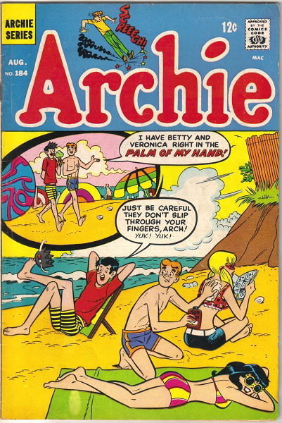 Archie Comics Comic Book #184, Archie 1968 FINE-