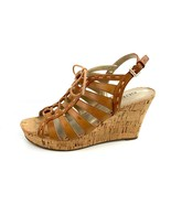 """GUESS """"Gardeneer"""" Brown Cork Lace Up Slingback Wedges Size 8 Med - $18.80"""