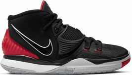 """KYRIE 6 """"BREDS"""" YOUTH SIZE 4.0 TO 7.0 BLACK RED NEW RARE COMFORTABLE AUT... - $150.23"""