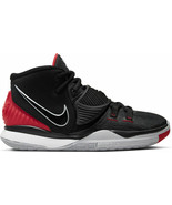 """KYRIE 6 """"BREDS"""" YOUTH SIZE 4.0 TO 7.0 BLACK RED NEW RARE COMFORTABLE AUT... - $149.99"""