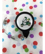 Peanuts Snoopy Woodstock Riding Scooter Retractable ID Holder Swivel Cli... - $4.80