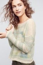 `New Anthropologie Frosted Horizon Pullover by Troubadour M Retail $118 NEUTRAL - $47.52
