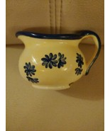 YANKEE CANDLE White Blue Floral Pitcher Tea Light Candle Holder  - $12.81