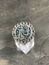 Sz 6.25, Vintage Sterling Silver Turquoise Ring, 925 Navajo - $462,35 MXN