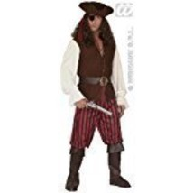 "Mens High Sea Pirate Man Costume Extra Large Uk 46"" For Buccaneer Fancy ... - $74.09"