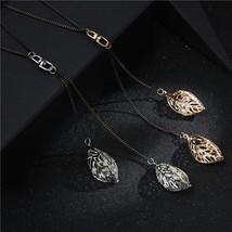 2019 Autumn Winter Fashion Women Girl Rhinestone Crystal Leaf Pendant Le... - $9.45