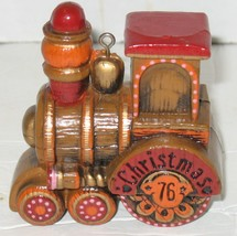 Vintage 1976 Hallmark Cards Train Engine Christmas Plastic Ornament - $8.91
