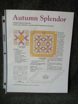 Autumn Splendor Wall Hanging Quilt Pattern - $2.24