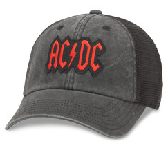 American Needle Raglan Bones Curved Brim Patch Baseball Hat, ACDC, Black - $25.73