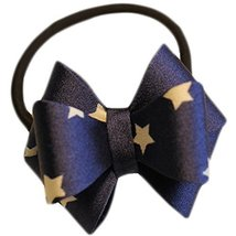 Fashion Hair Bands Bowknot Hair Rope Hair Accessories(Dark Blue Stars)